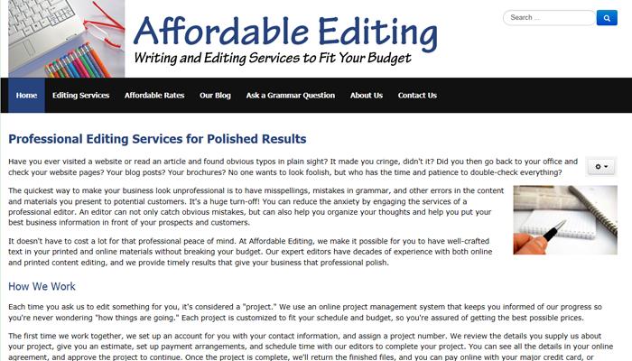 Affordable Editing