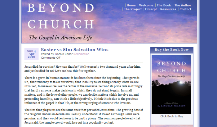 Beyond Church, the Gospel in American Life